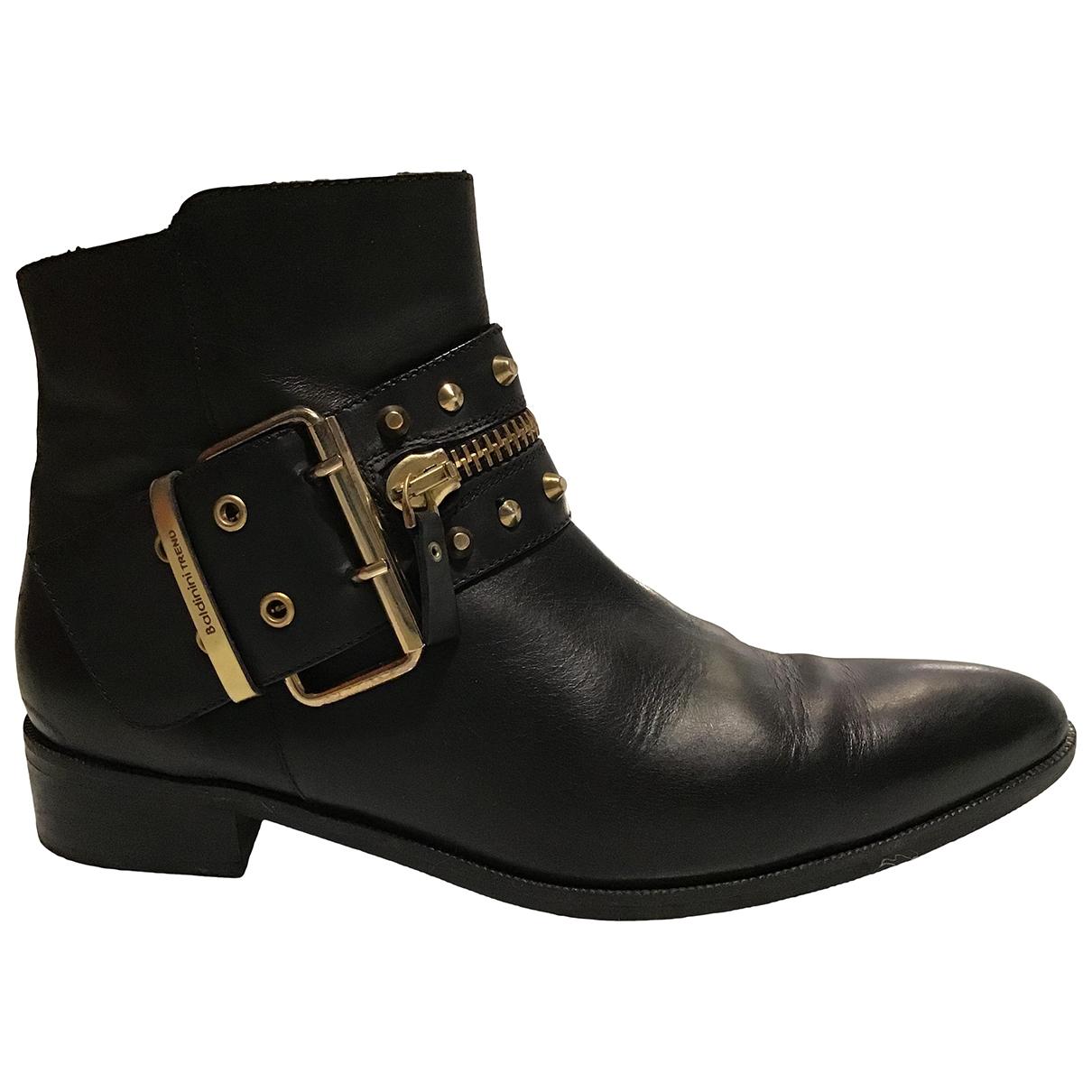 Baldinini - Boots   pour femme en cuir - noir