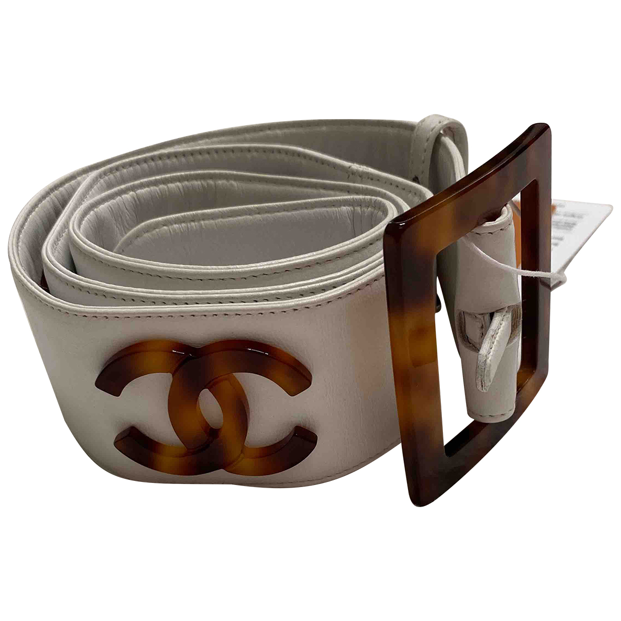 Chanel \N White Leather belt for Women 80 cm