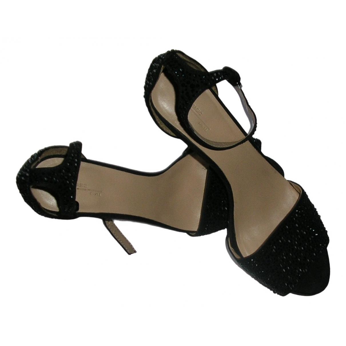 Zara - Sandales   pour femme en a paillettes - noir