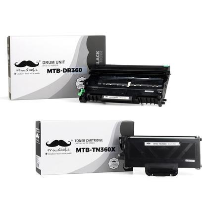 Brother TN360X DR360 cartouche de toner et tambour compatible combo - Moustache®