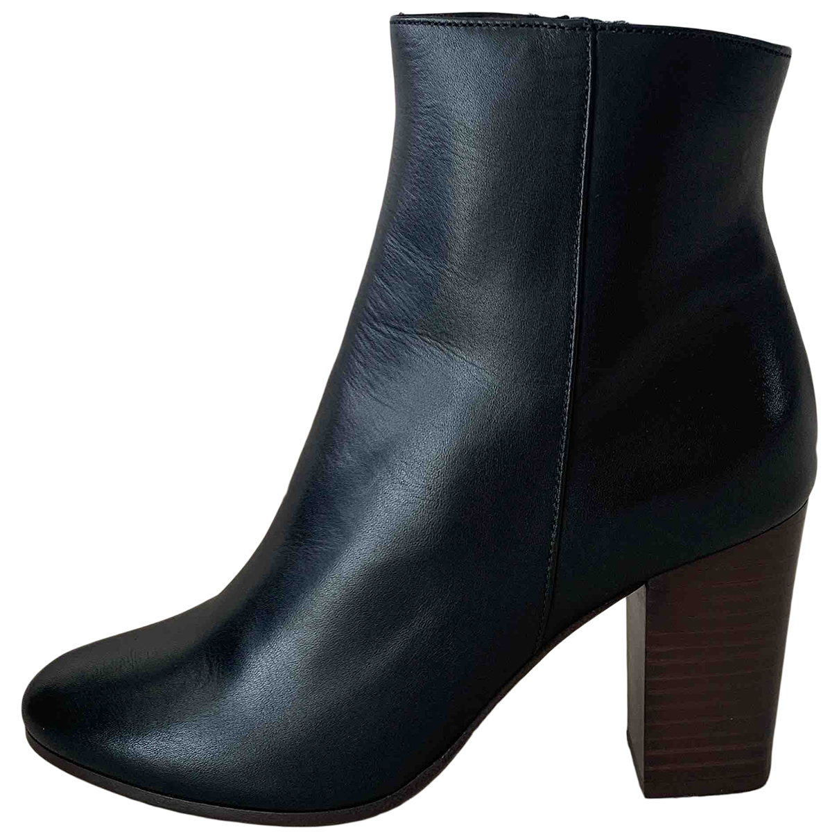 Maje Spring Summer 2020 Black Leather Ankle boots for Women 37 EU