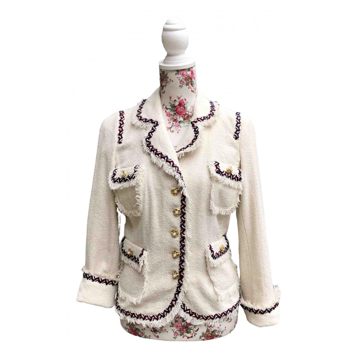 Edward Achour - Veste   pour femme en coton - blanc