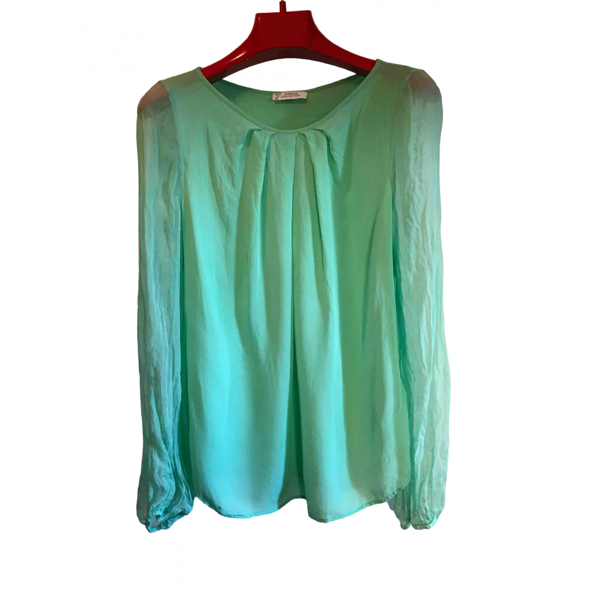 Versace \N Green Silk  top for Women 48 IT