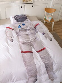 Kids Astronaut Pattern Bedding Set Without Filler