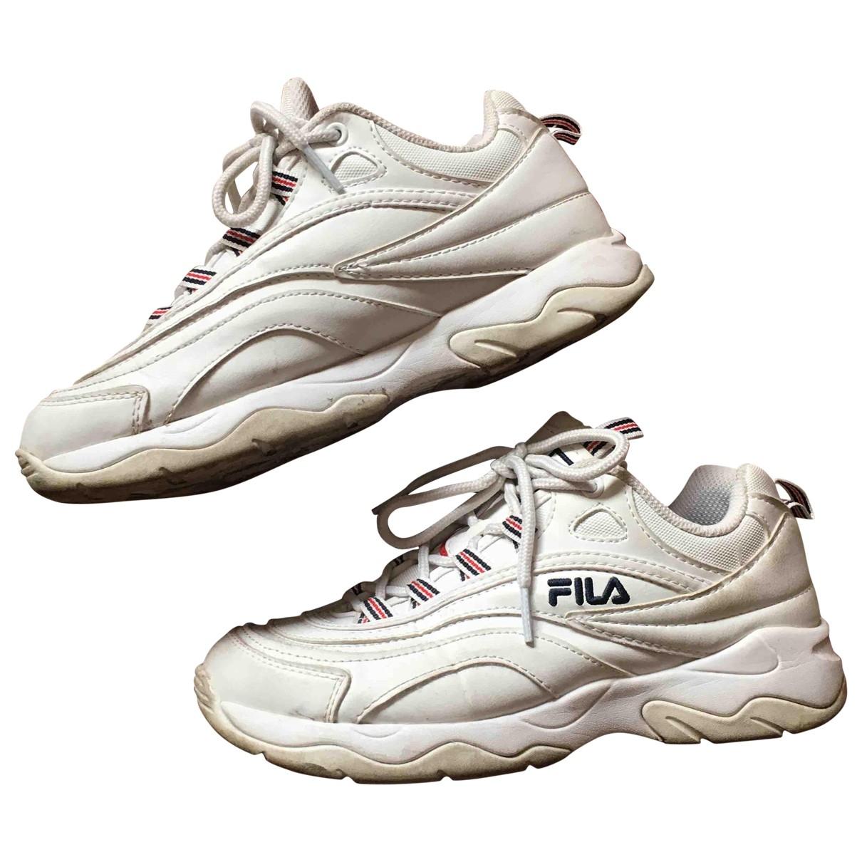 Fila - Baskets   pour femme en cuir - blanc