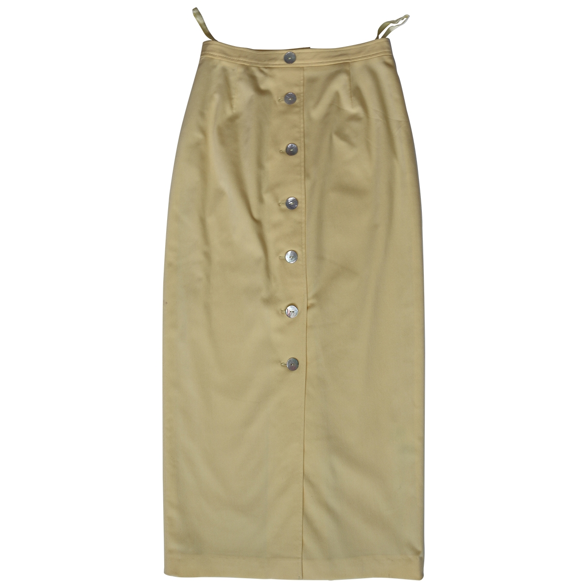 Non Signé / Unsigned \N Yellow skirt for Women 36 FR