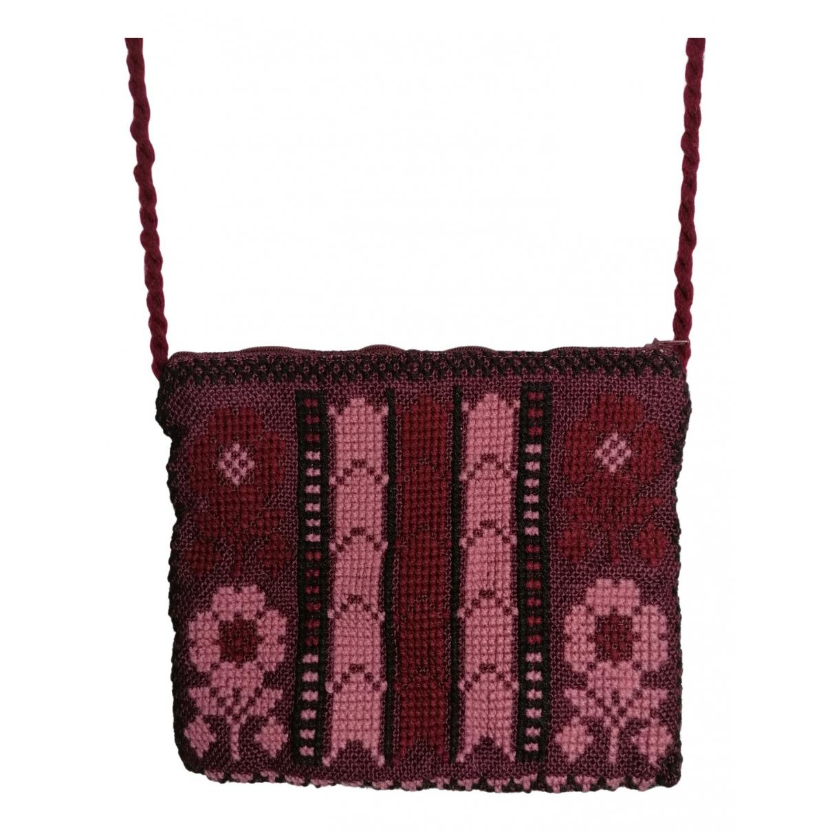 Non Signé / Unsigned \N Burgundy Cotton handbag for Women \N