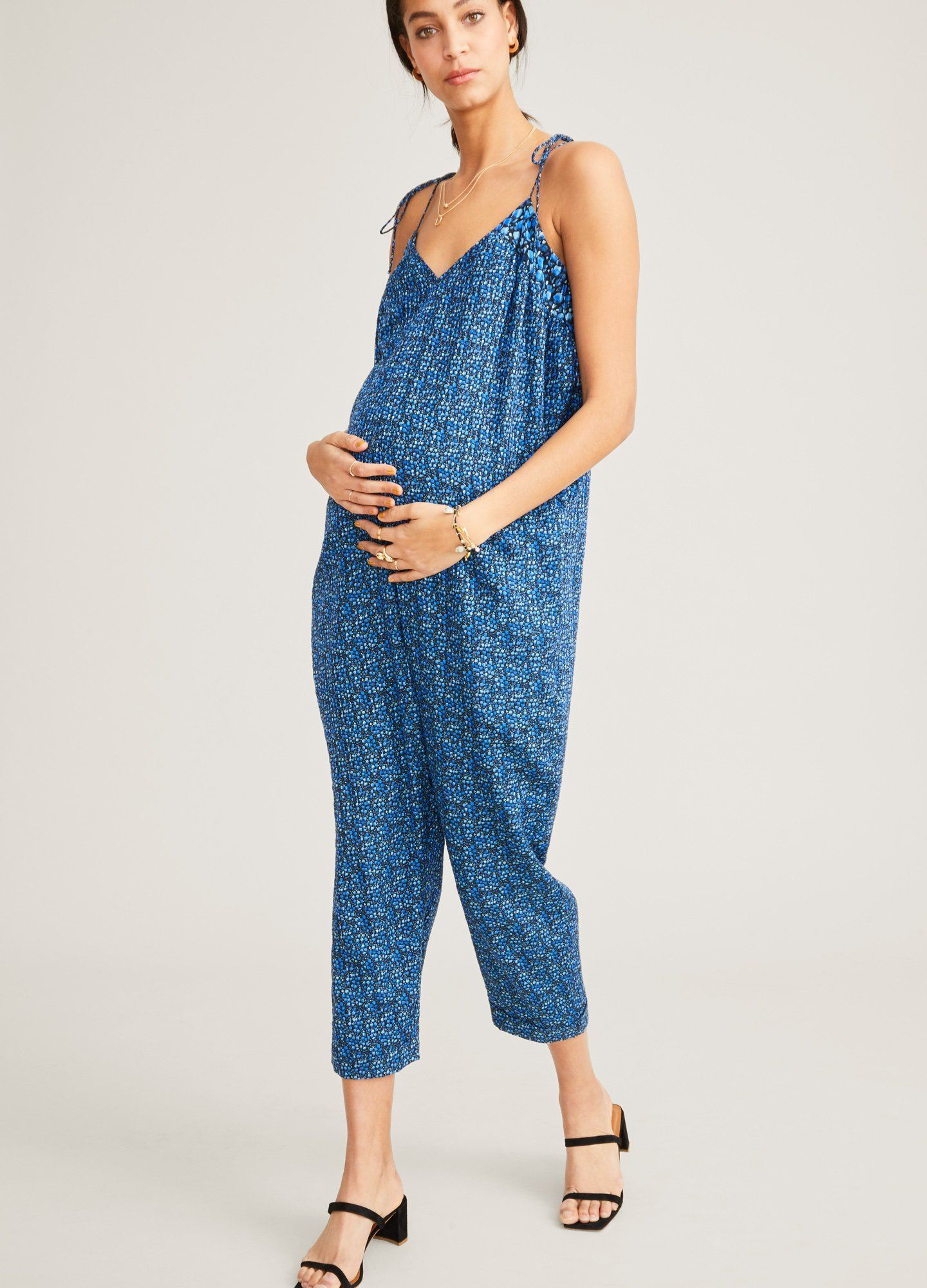 HATCH Maternity The Kacey Jumpsuit, Twilight, Size 0