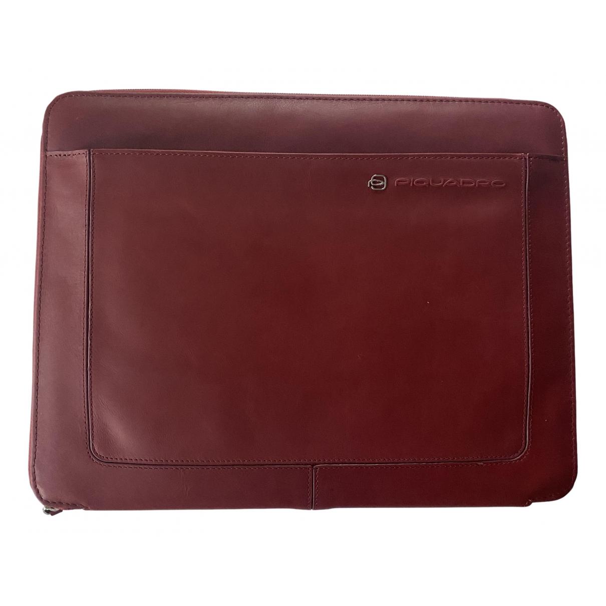 Piquadro - Accessoires   pour lifestyle en cuir - bordeaux