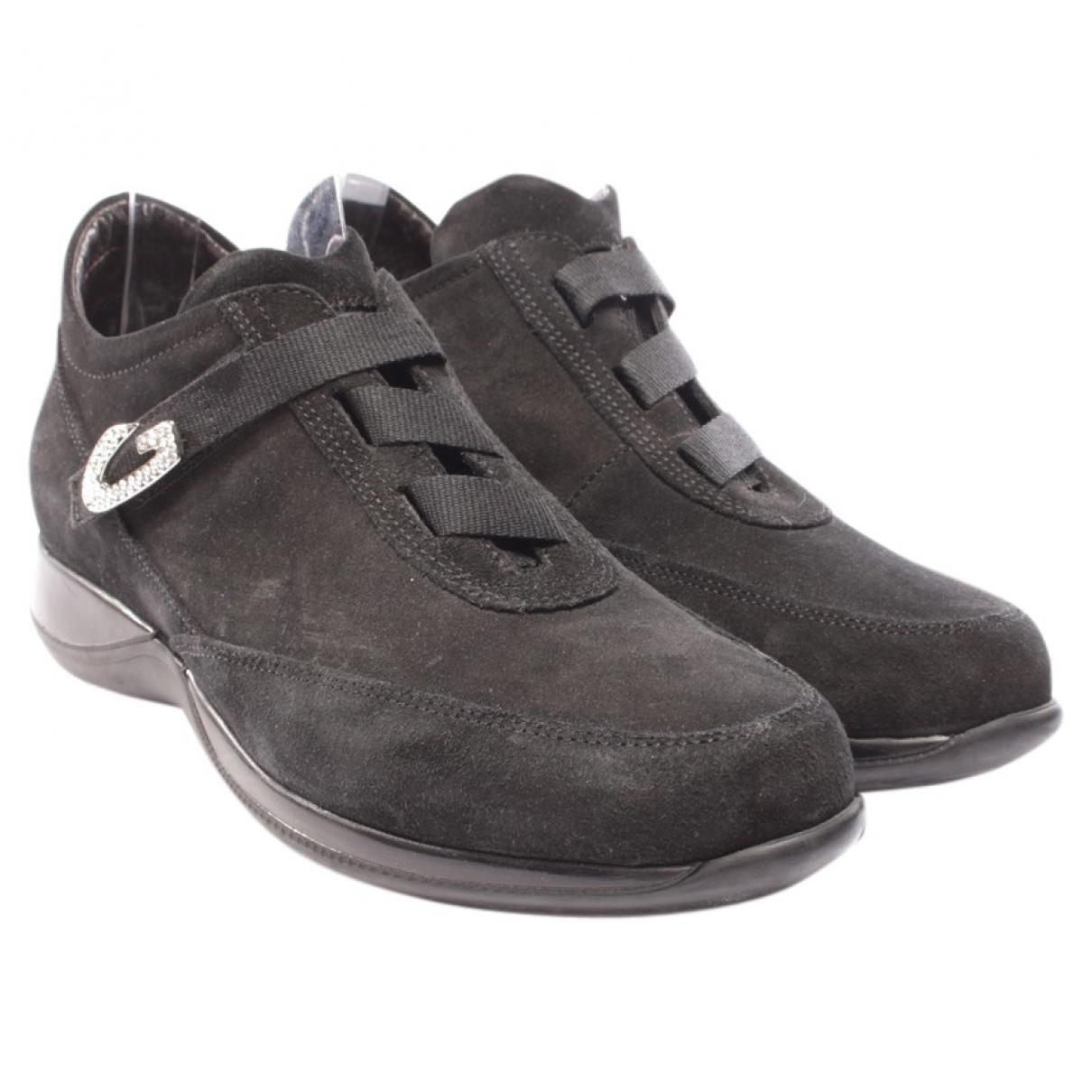Alberto Guardiani - Baskets   pour femme en velours - noir