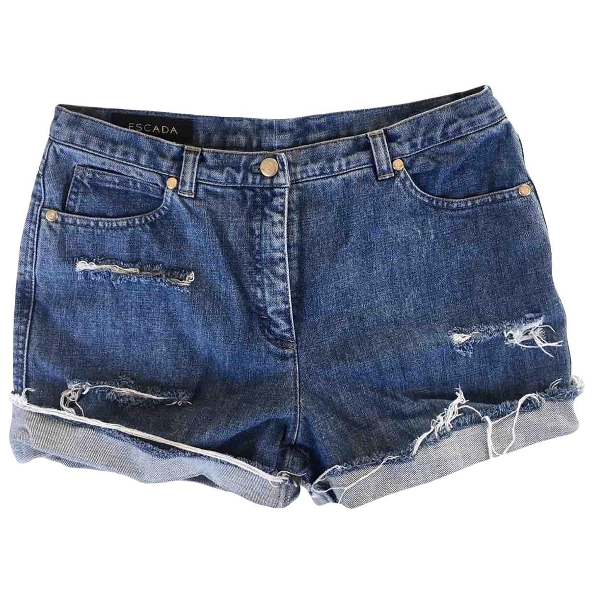 Escada \N Shorts in  Blau Baumwolle