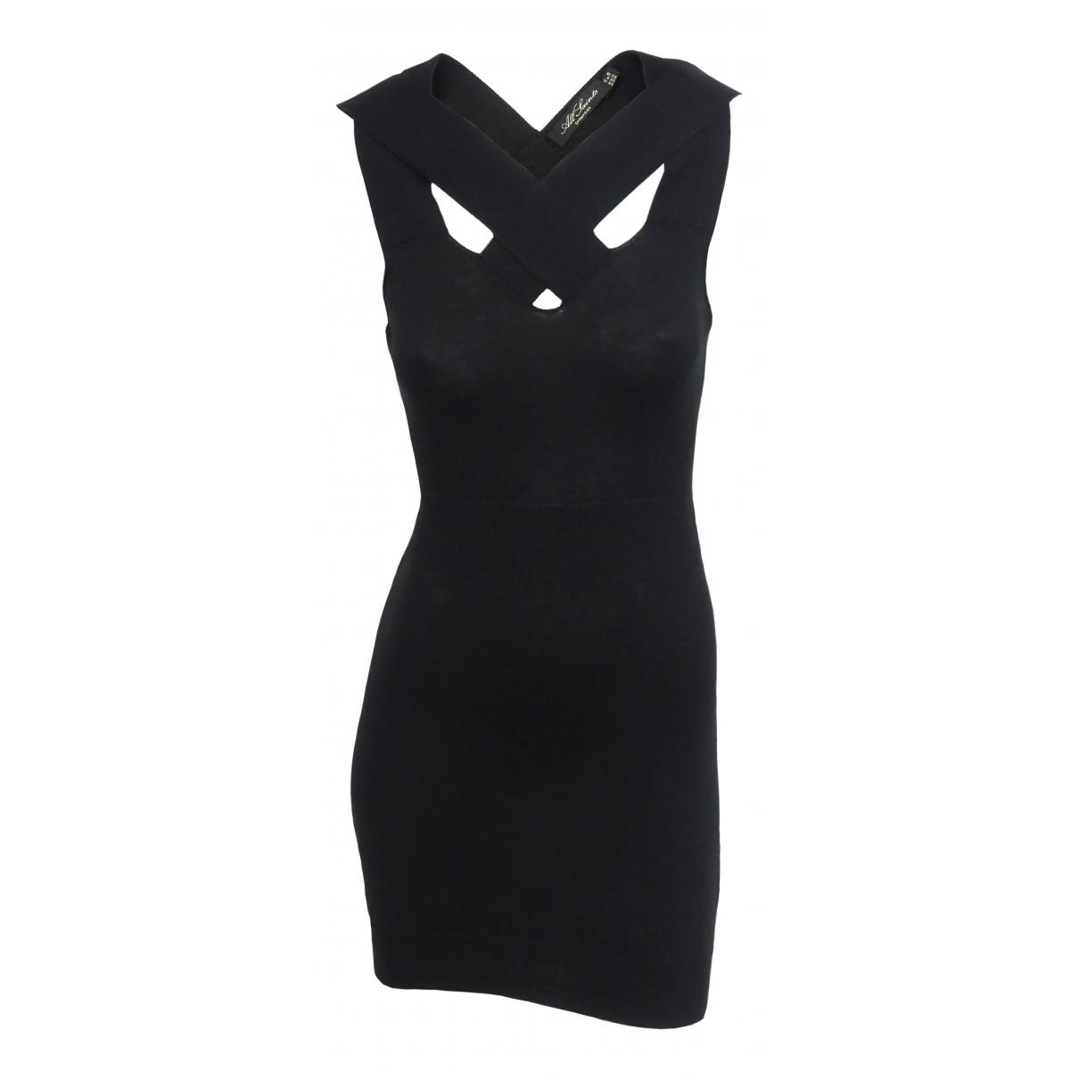 All Saints - Robe   pour femme en coton - elasthane - noir