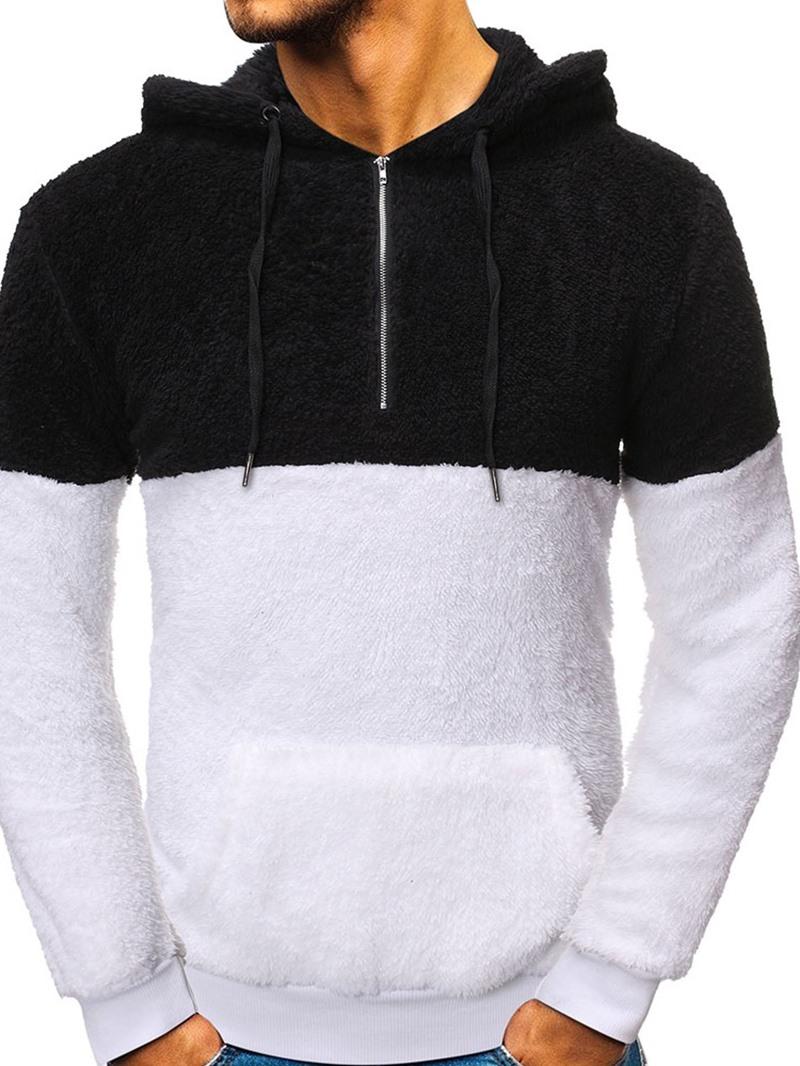 Ericdress Pullover Pocket Fleece Casual Mens Hoodies
