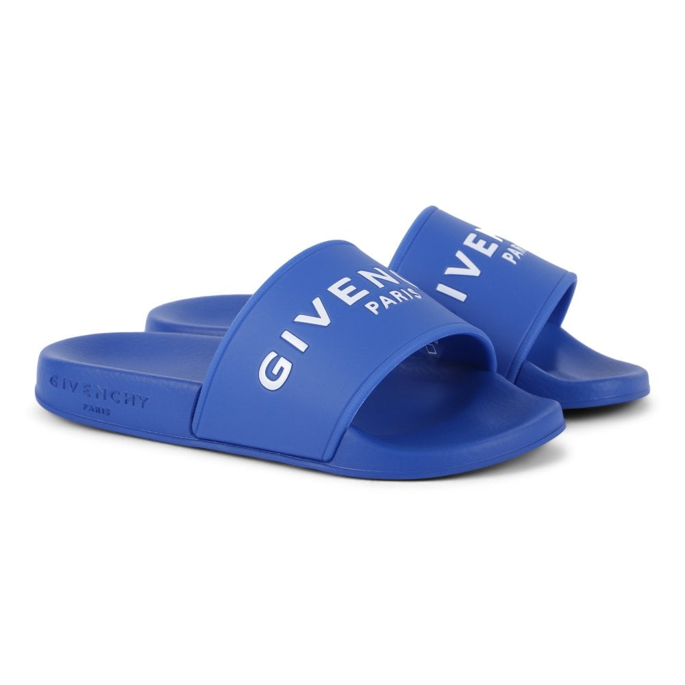 Givenchy Baby Logo Aqua Sliders Black Colour: BLUE, Size: 30