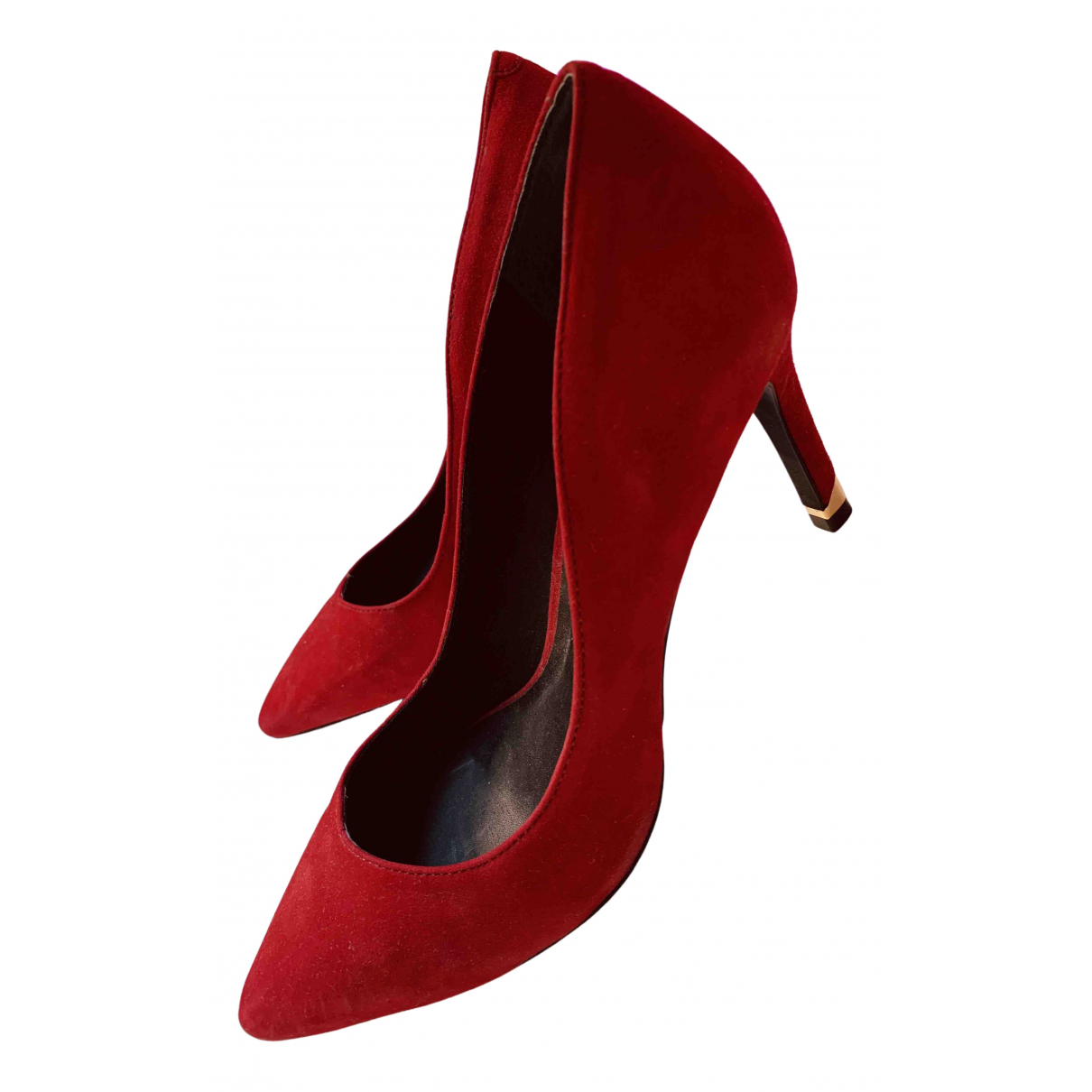 Minelli - Escarpins   pour femme en velours - rouge