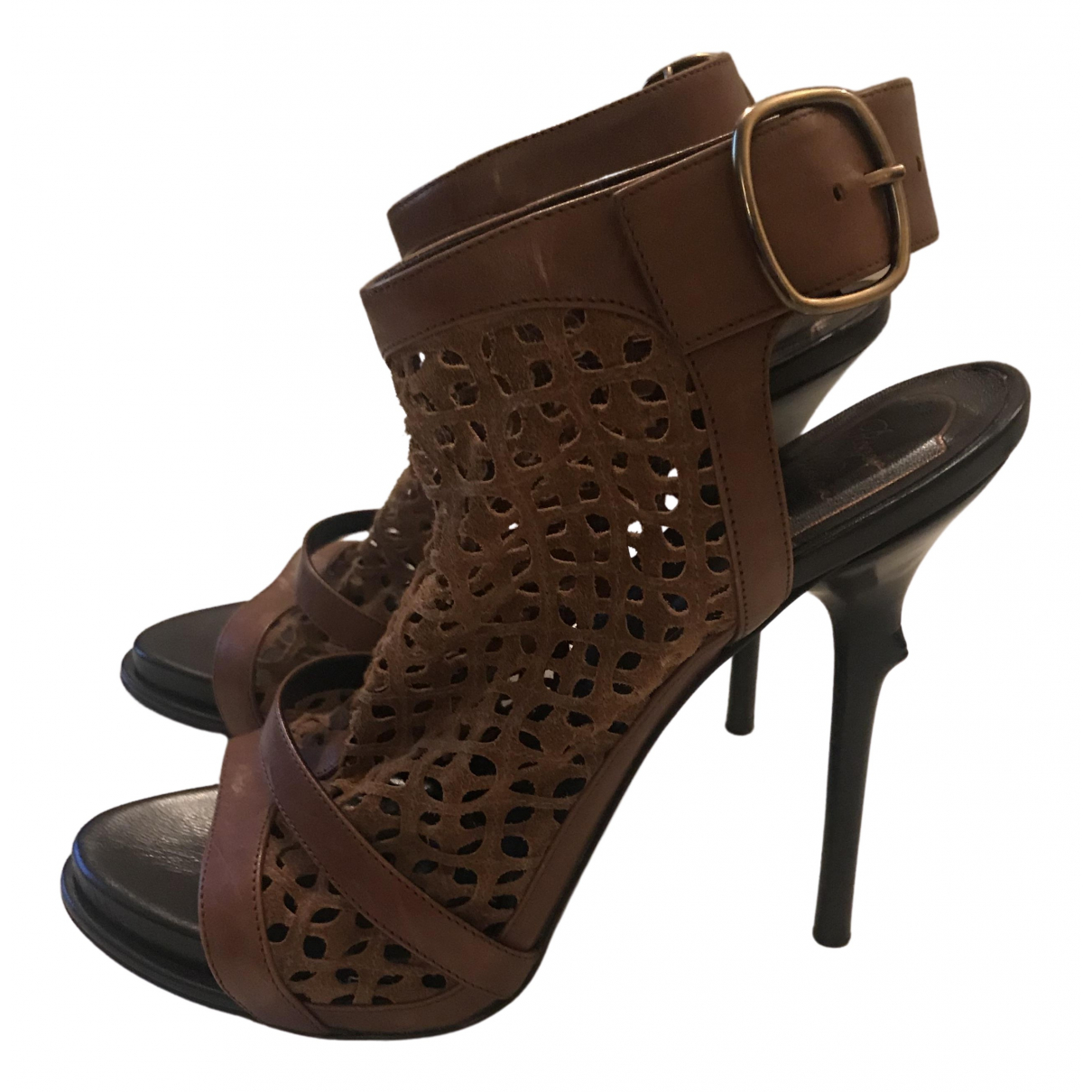 Roger Vivier - Sandales   pour femme en cuir - marron
