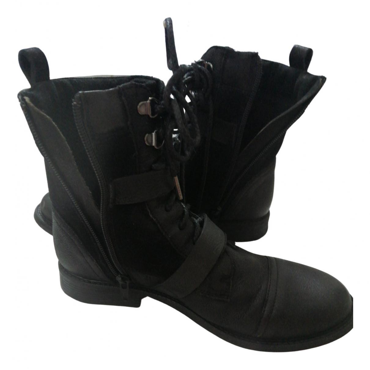 Levis \N Stiefeletten in  Schwarz Leder