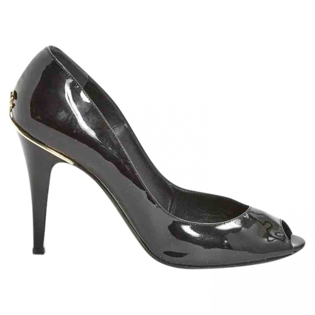 Chanel \N Black Patent leather Heels for Women 40 EU