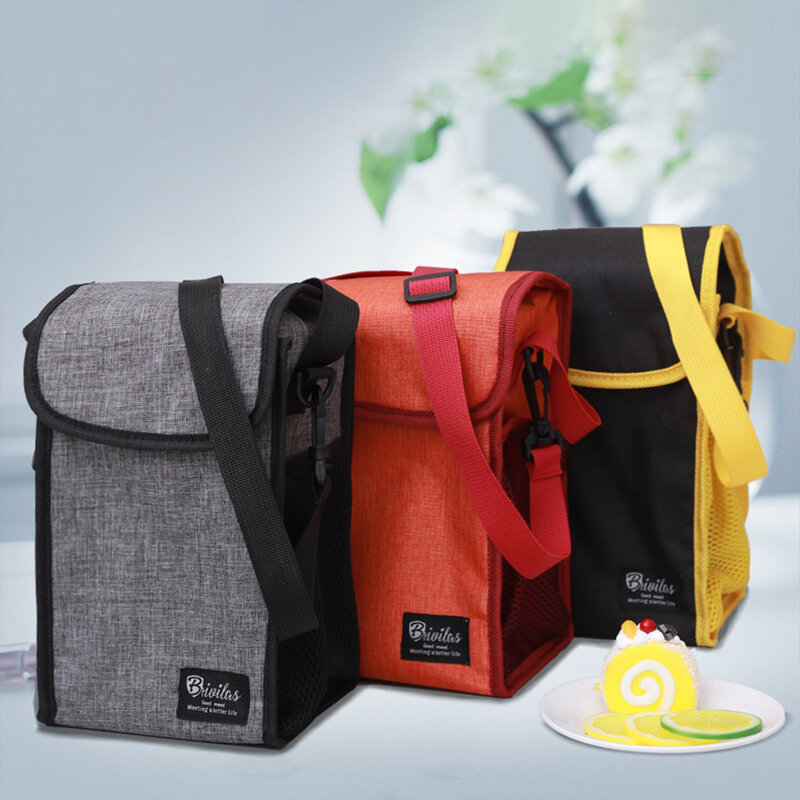 Portable Clamshell Lunch Box Bag Insulated Lunch Bag With Rice Hand Bag Student Lunch Back Milk Ice Bag