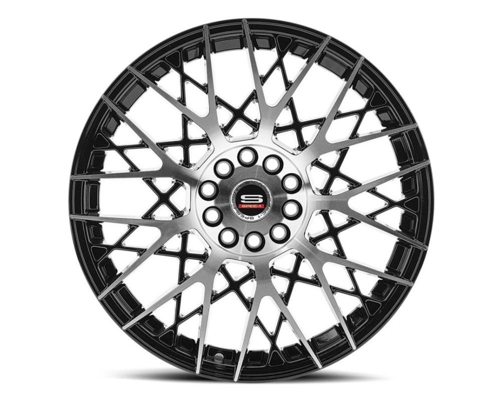 Spec-1 SP-53 Wheel Racing Series 20x8.5 5x100|5x114.3 38mm Gloss Black Machined