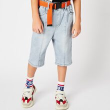 Toddler Boys Straight Leg Belted Shorts