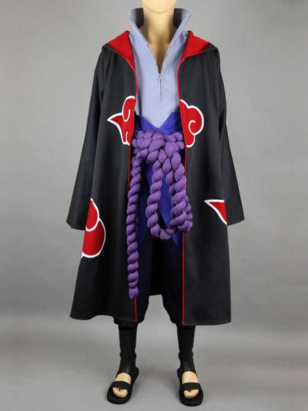 Milanoo Halloween Naruto Uchiha Sasuke Akatsuki Halloween Cosplay Disfraz