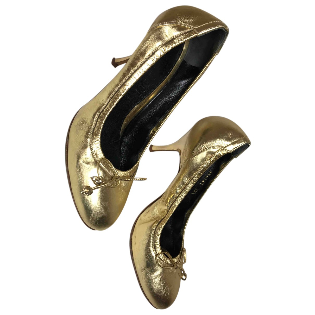 Alexander Mcqueen \N Pumps in  Gold Leder
