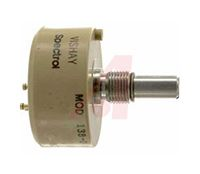 Vishay 1 Gang Rotary Conductive Plastic Potentiometer with an 6.35 mm Dia. Shaft - 10kΩ, ±10%, 2W Power Rating, Linear,