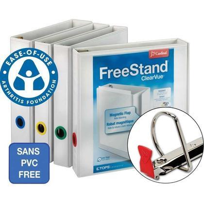 Cardinal FreeStand ClearVue 2'' / 3'' / 4'' / 5'' Locking Slant D-Ring Presentation Binder - 4