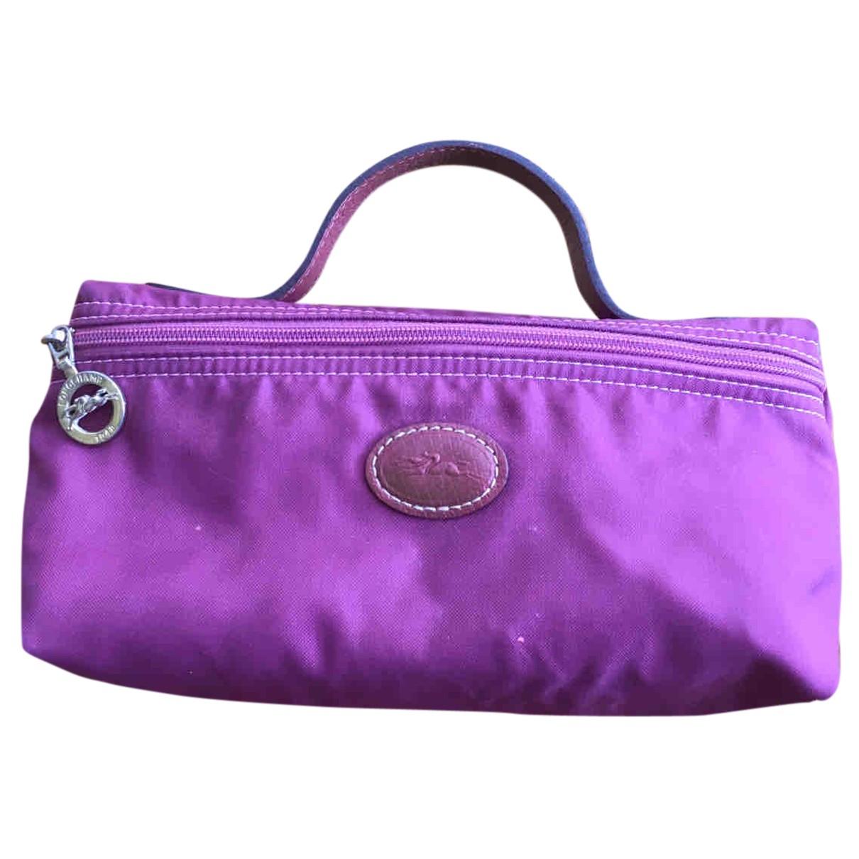 Longchamp - Portefeuille   pour femme en toile - violet
