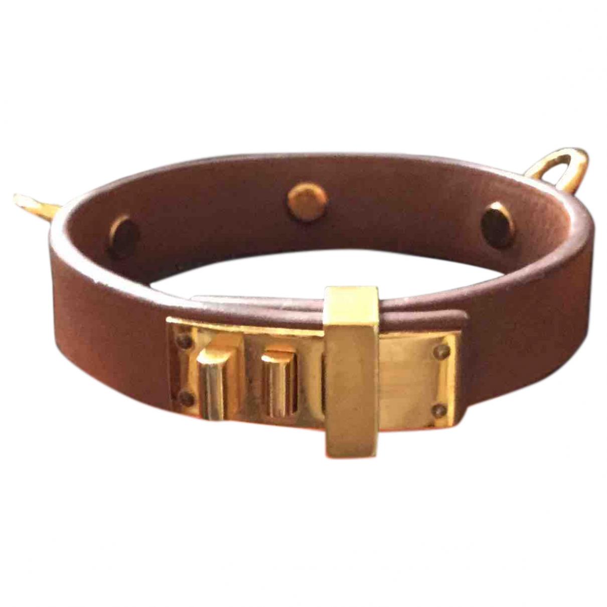 Hermes Mini Dog Armband in  Kamel Leder