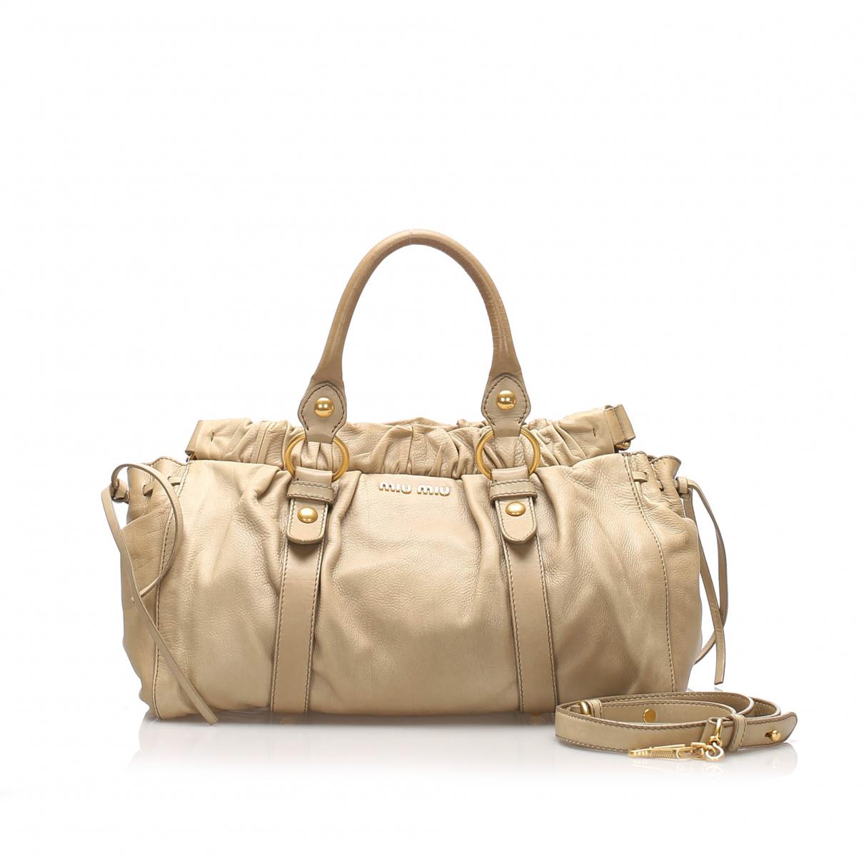Miu Miu Bow bag Brown Leather handbag for Women N