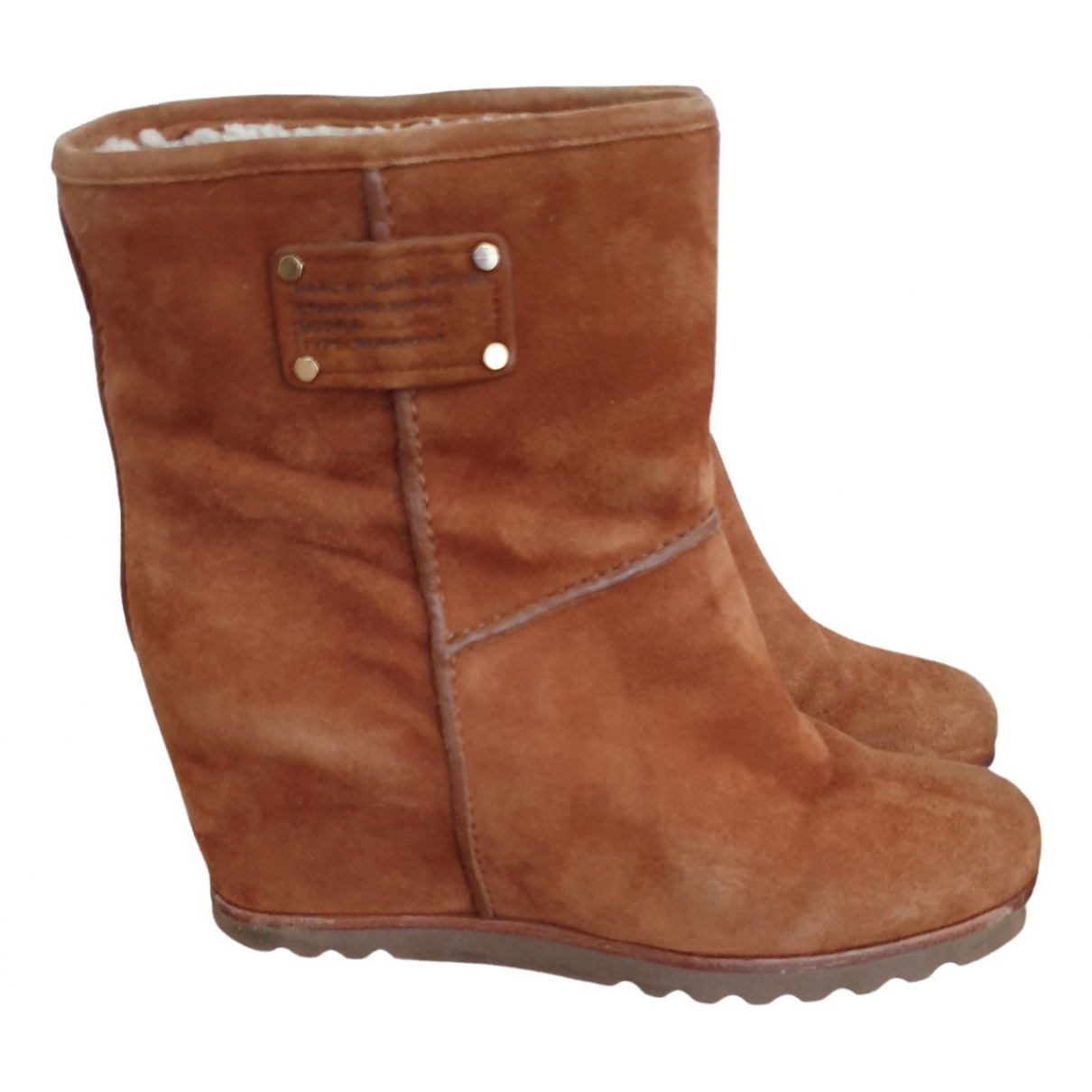 Marc By Marc Jacobs \N Camel Suede Ankle boots for Women 36.5 IT
