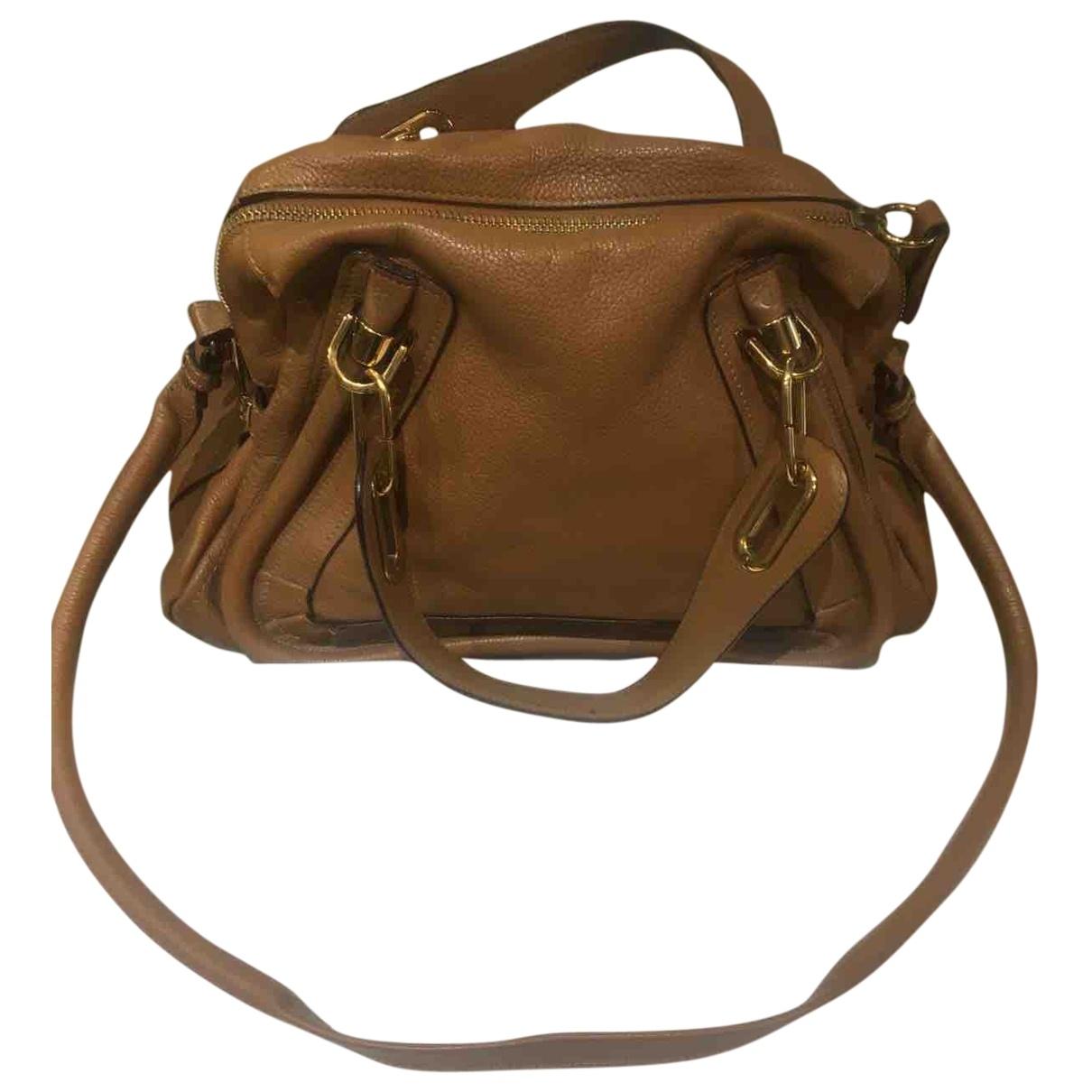 Chloe \N Handtasche in  Beige Leder