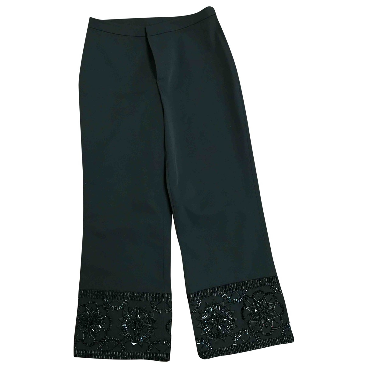 Gianfranco Ferré \N Black Trousers for Women 44 IT