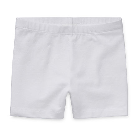 Okie Dokie Playground Toddler Girls Pull-On Short, 2t , White