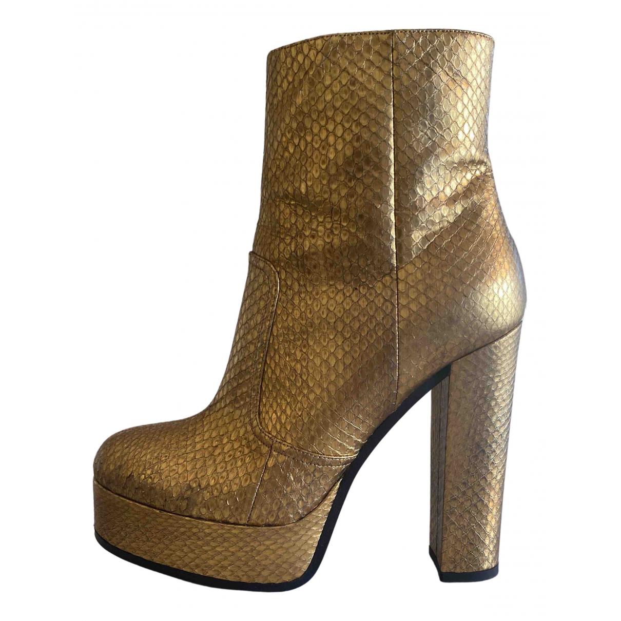 Roberto Cavalli \N Stiefel in  Gold Python
