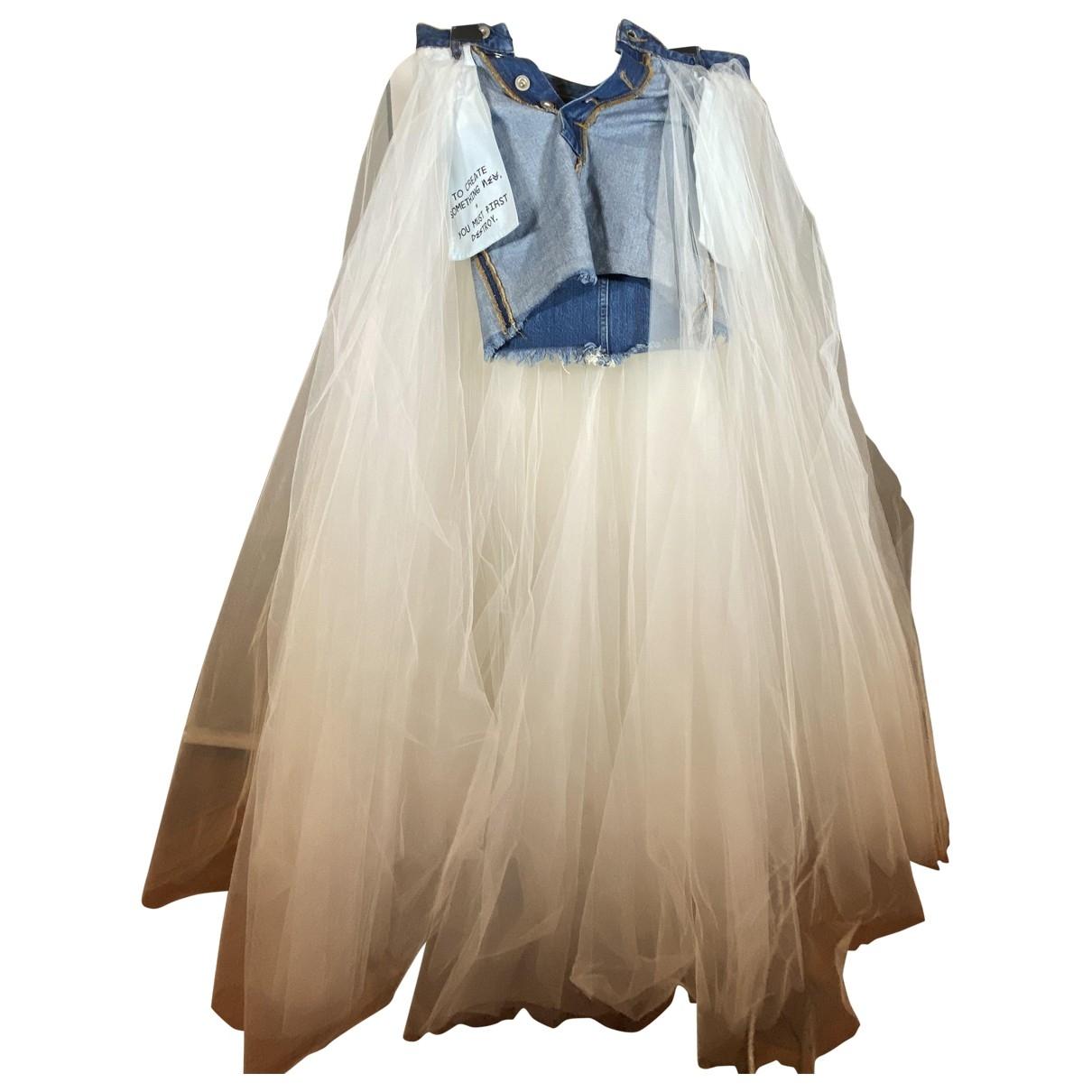 Unravel Project - Jupe   pour femme en denim - bleu