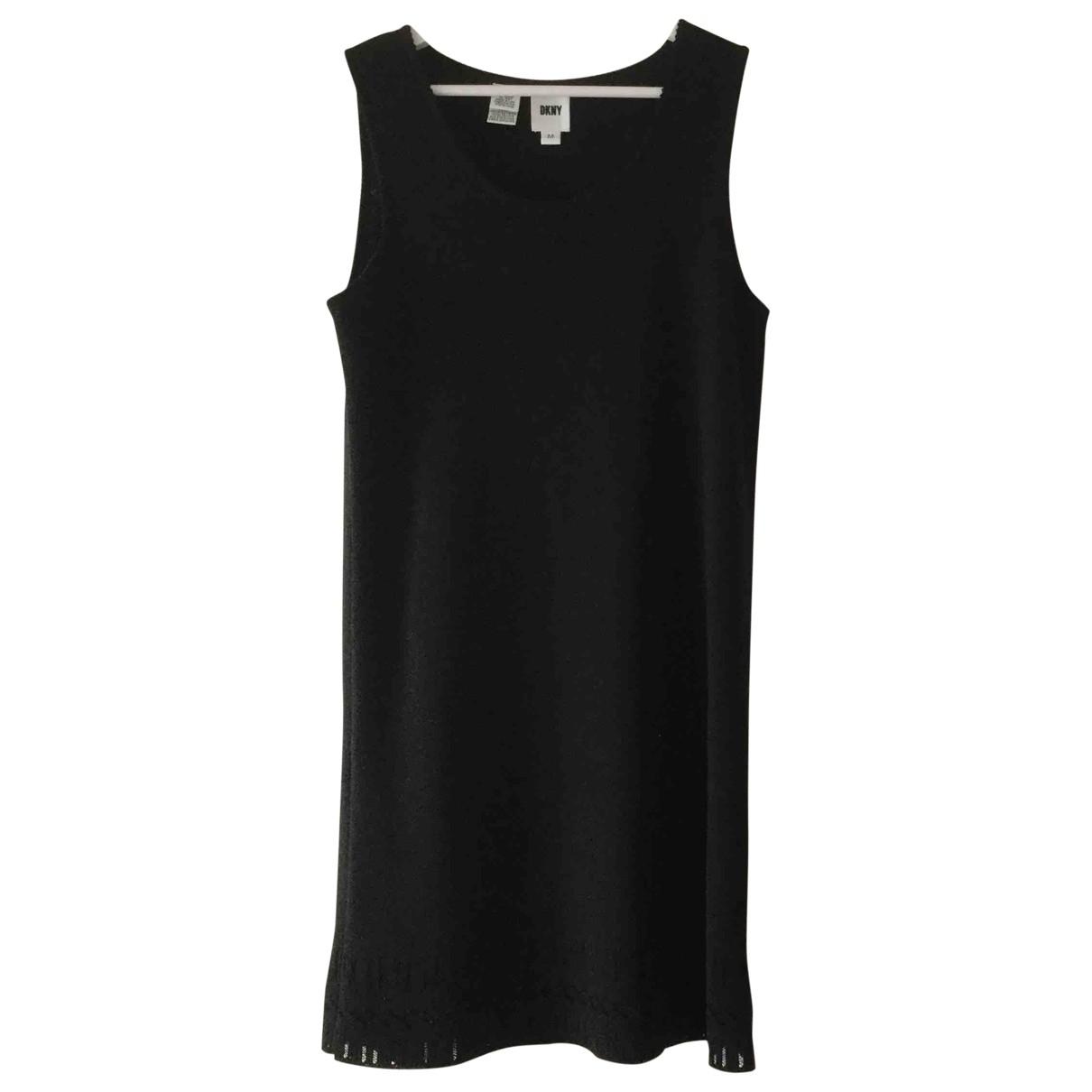 Dkny - Robe   pour femme en laine - noir