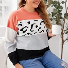 Pullover mit Cut And Sew und sehr tief angesetzter Schulterpartie