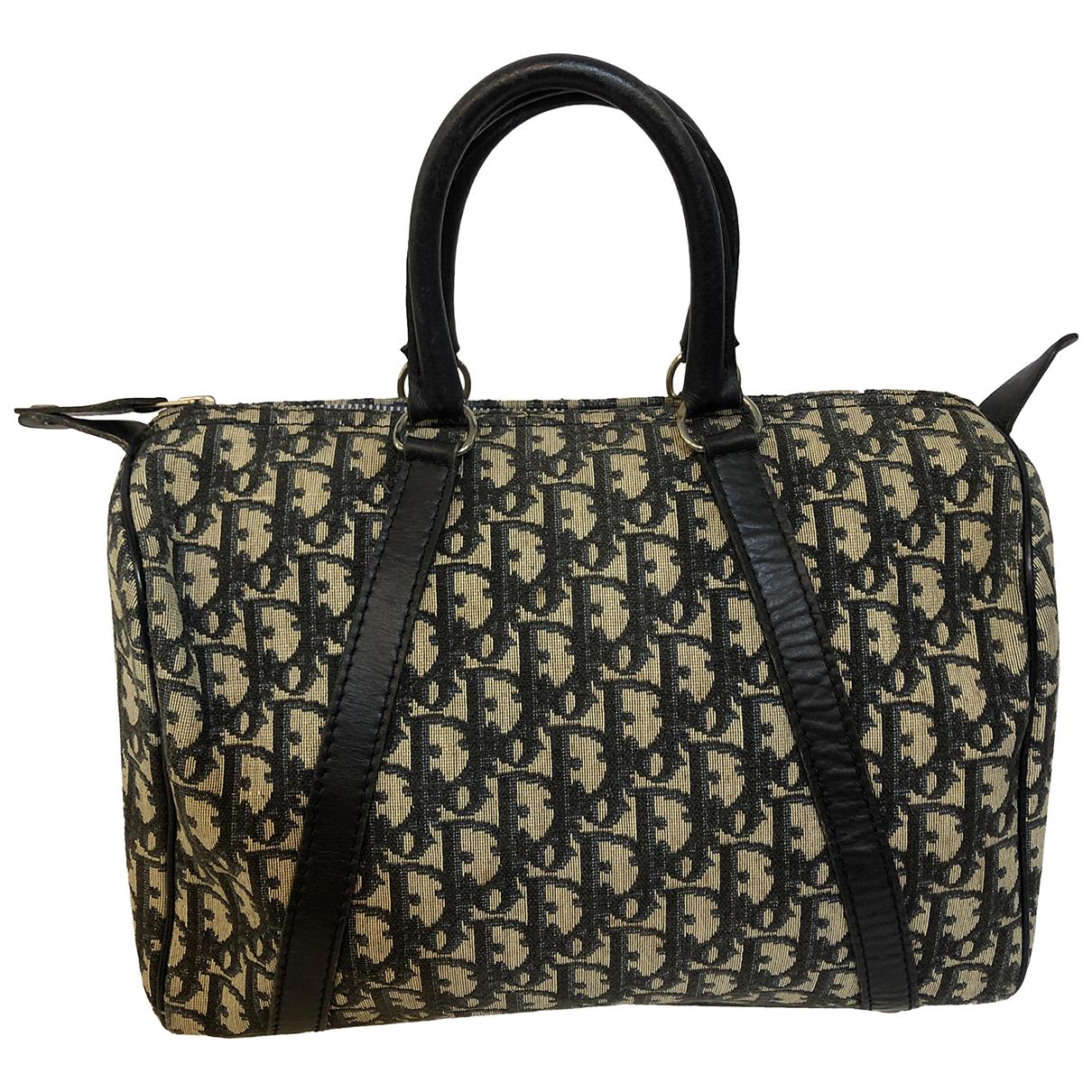 Dior Bowling Handtasche in  Blau Leinen
