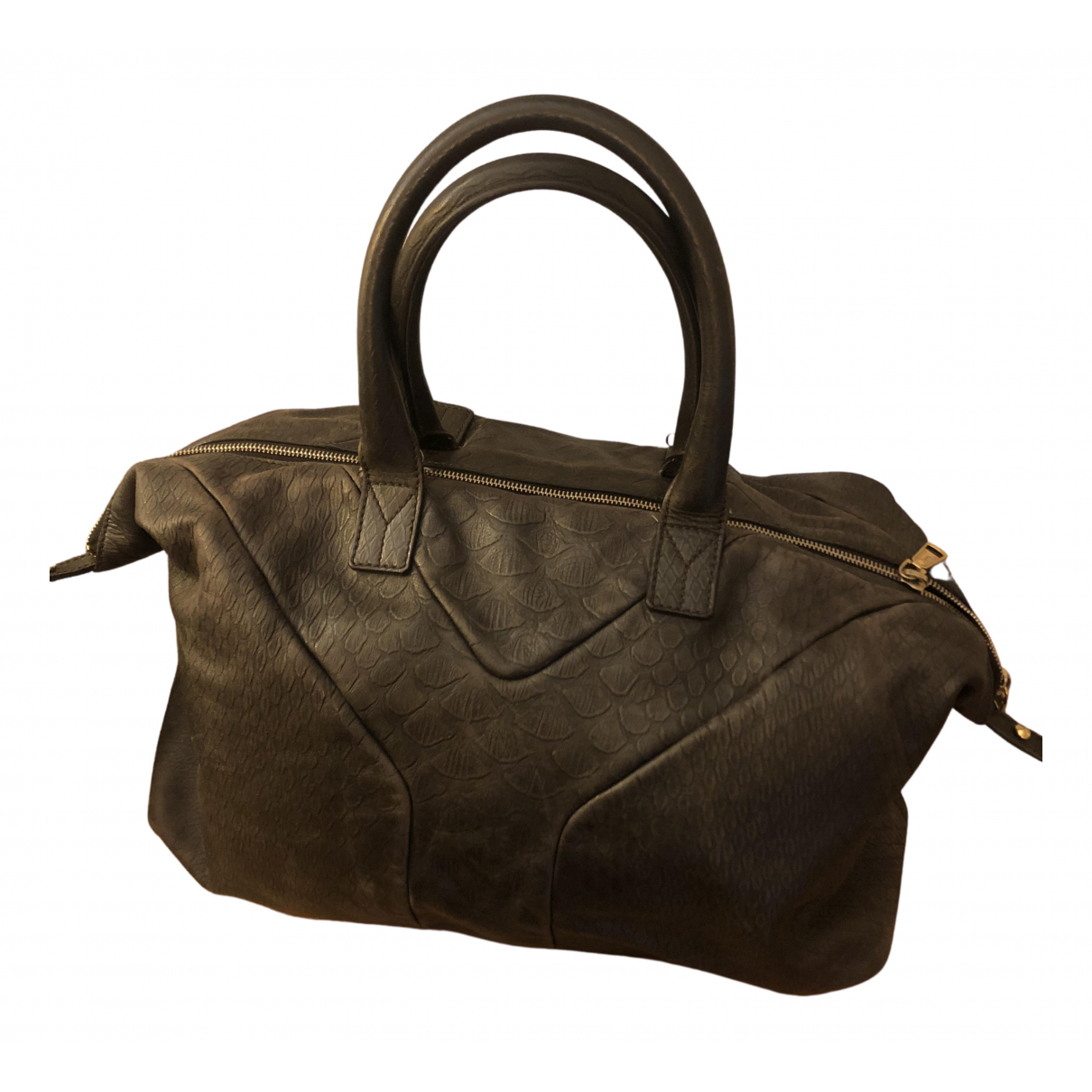 Yves Saint Laurent Easy Brown Leather handbag for Women N