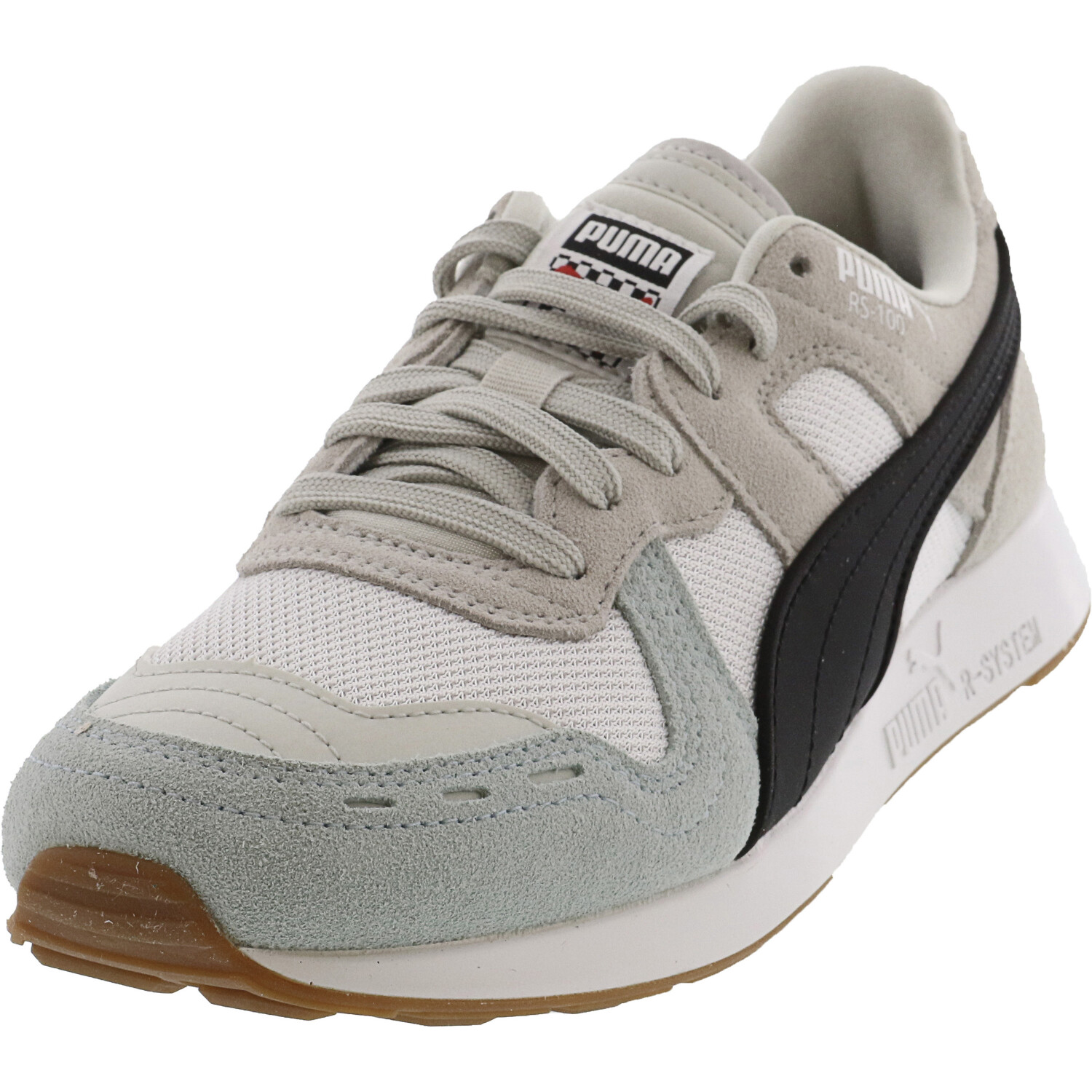 Puma Men's Rs-100 Racing Flag Glacier Gray / White Low Top Sneaker - 5.5M