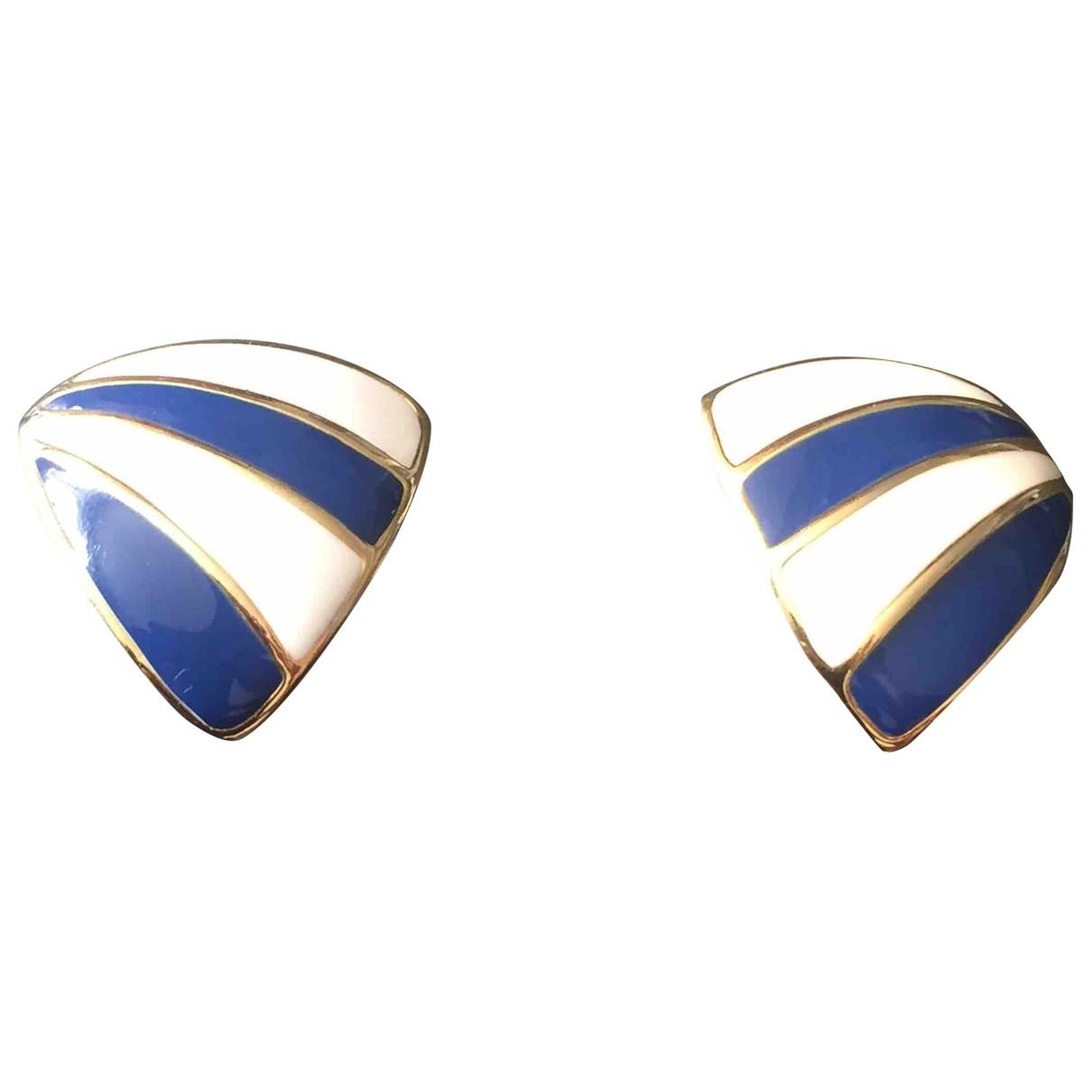 - Boucles doreilles   pour femme en metal - bleu