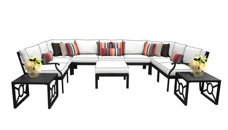 MADISON-12g Kathy Ireland Homes and Gardens Madison Ave. 12 Piece Aluminum Patio Set 12g with 1 Set of Snow