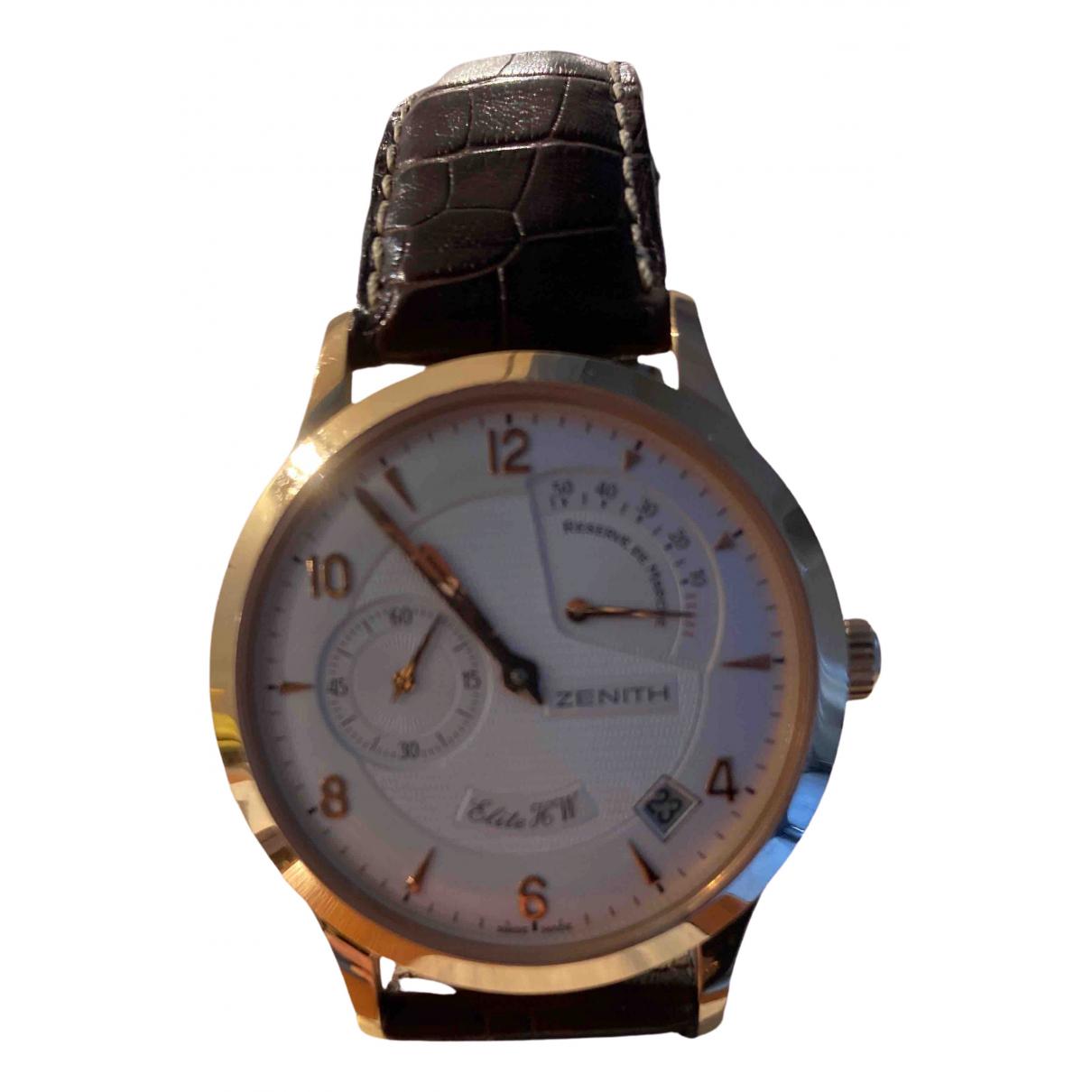 Zenith Elite  Uhr in  Braun Gelbgold