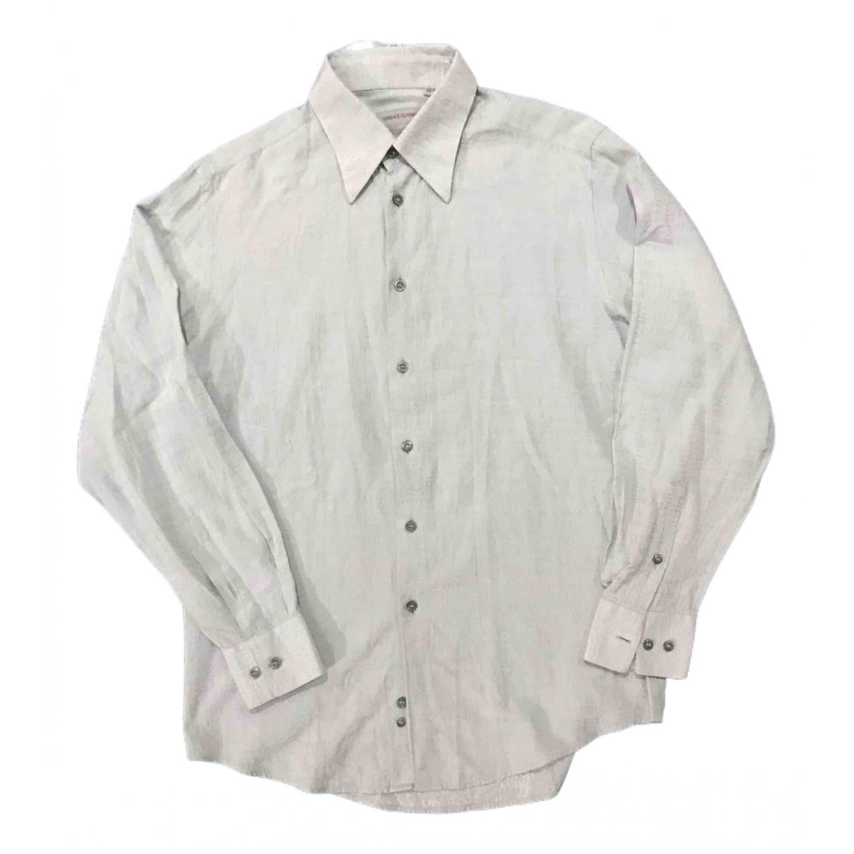 Versace - Chemises   pour homme en autre - gris