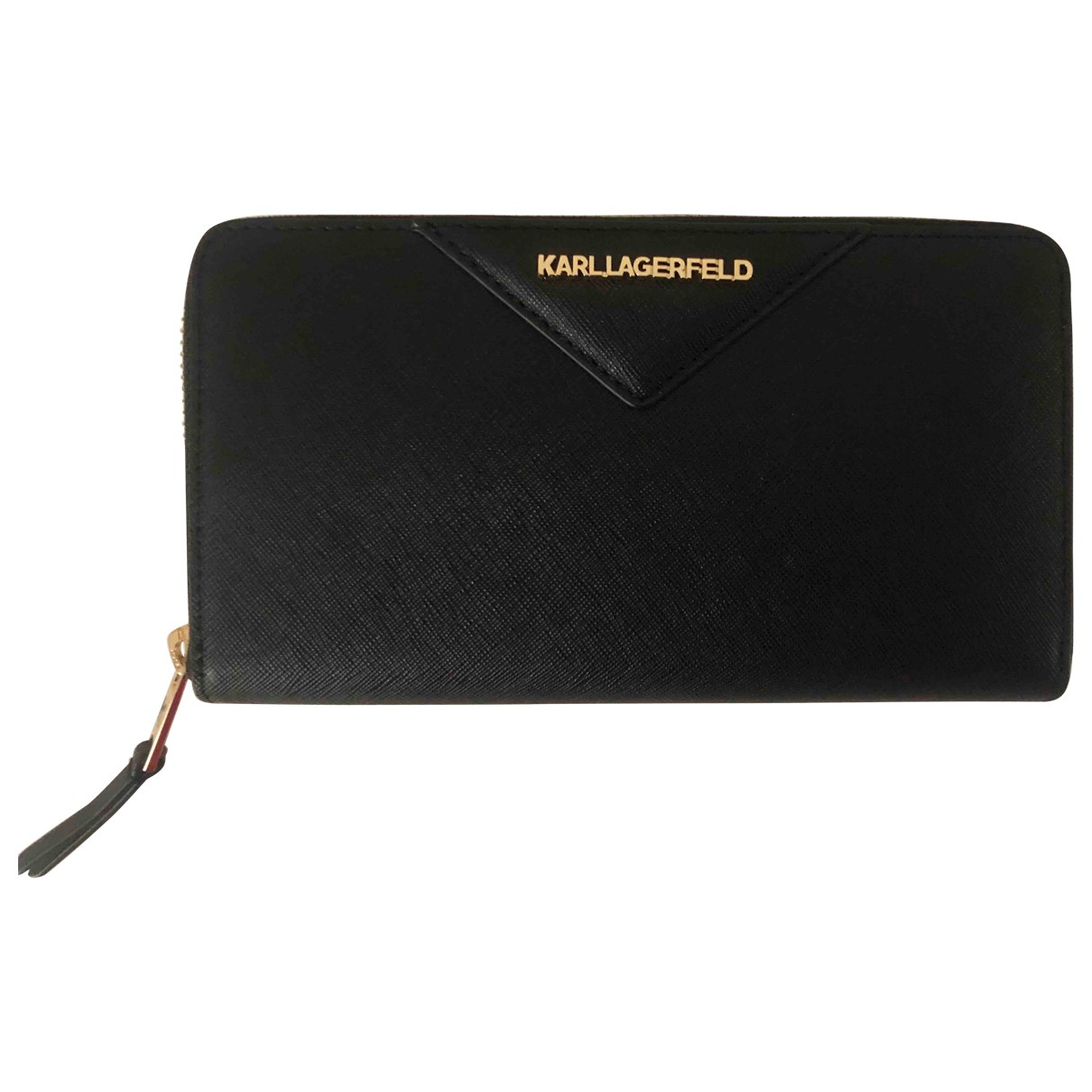 Karl Lagerfeld - Petite maroquinerie   pour femme en cuir - noir