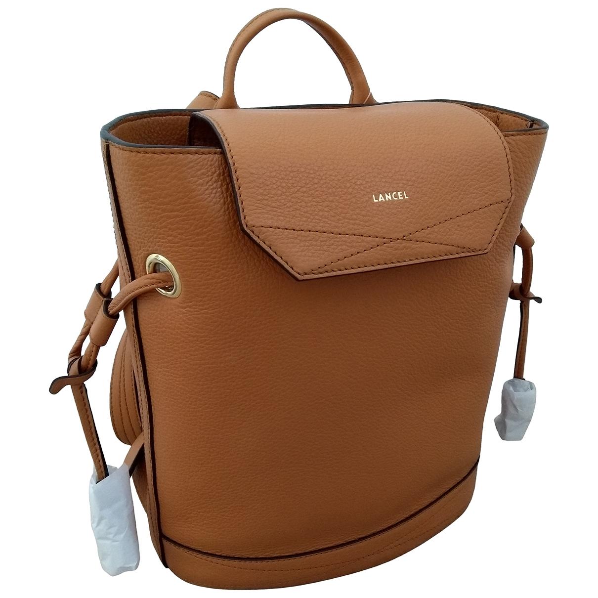 Lancel Huit Camel Leather backpack for Women \N