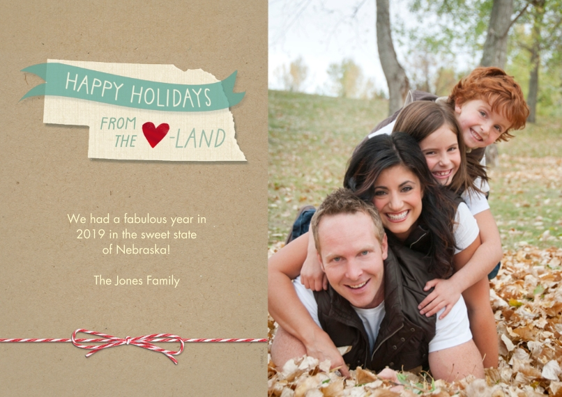 Christmas Photo Cards Flat Glossy Photo Paper Cards with Envelopes, 5x7, Card & Stationery -Happy Holidays From the Heartland by Hallmark